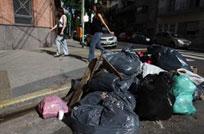 La ciudad amaneció llena de basura