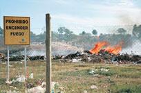 Dinama no controla los vertederos municipales