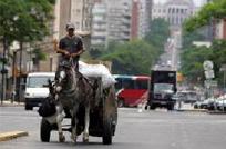 En Montevideo hay más carritos de basura que ómnibus